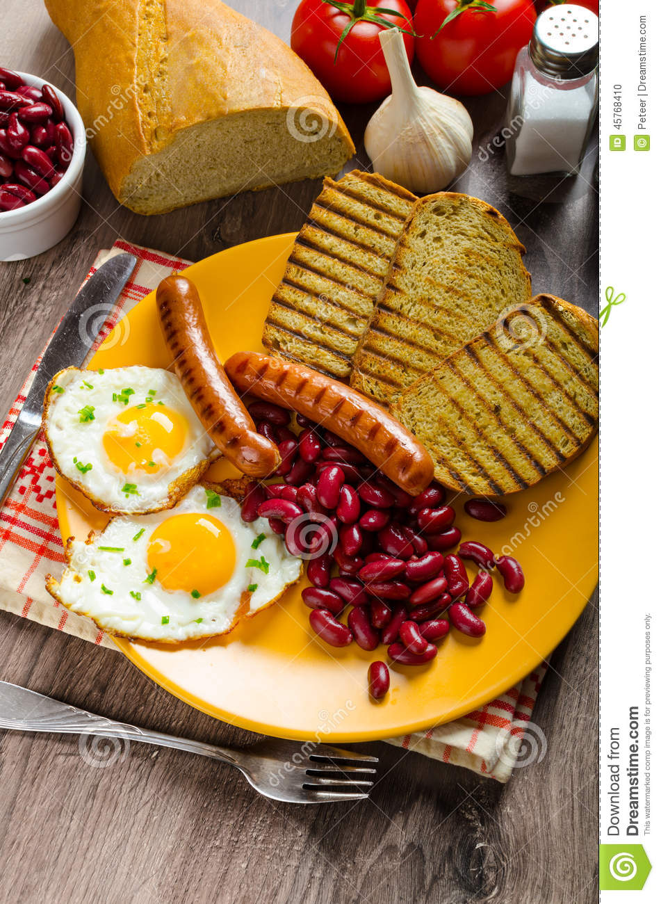... -breakfast-garlic-toast-fried-egg-beans-english-breakfast-toast