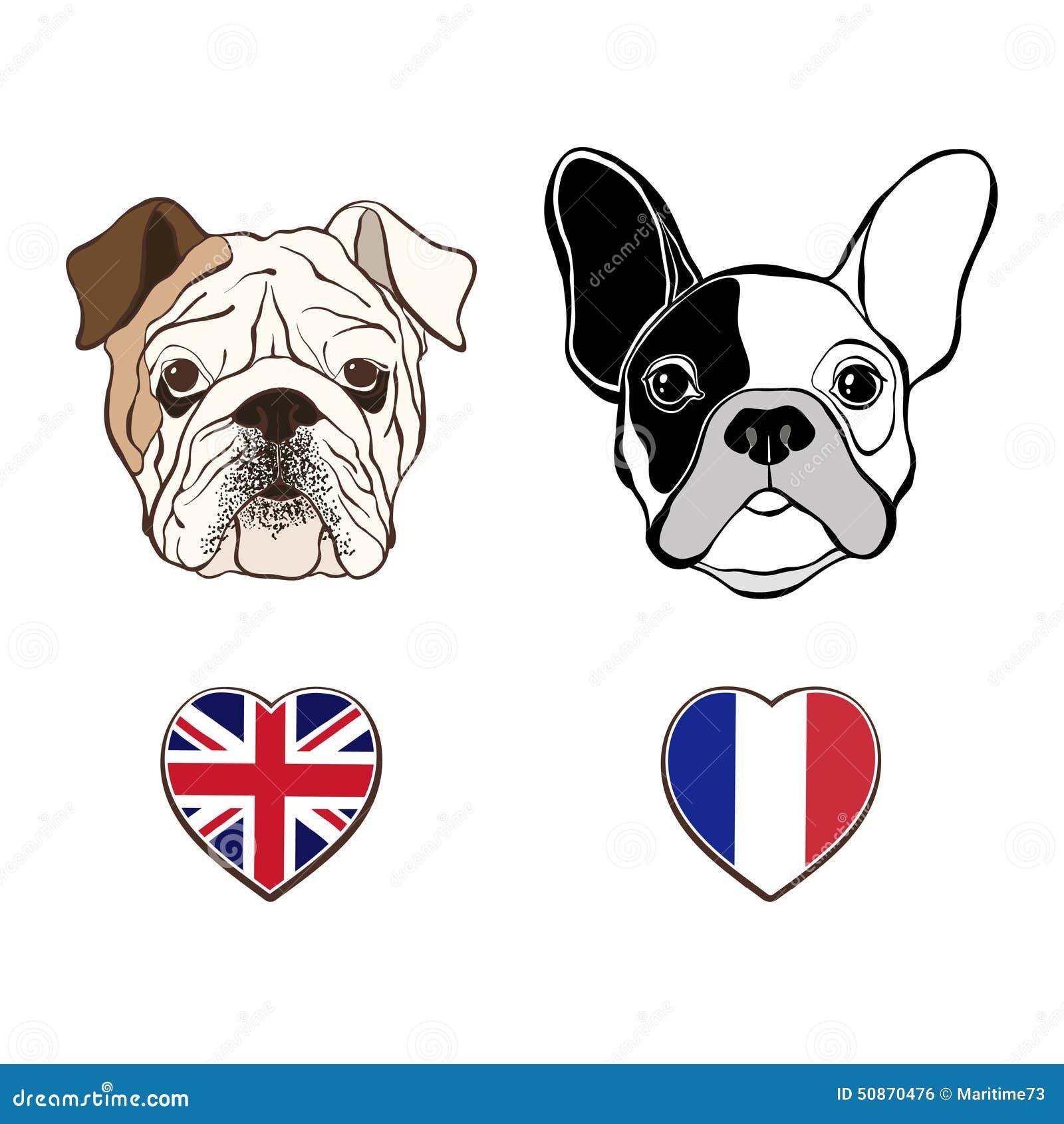French bulldog cartoon face
