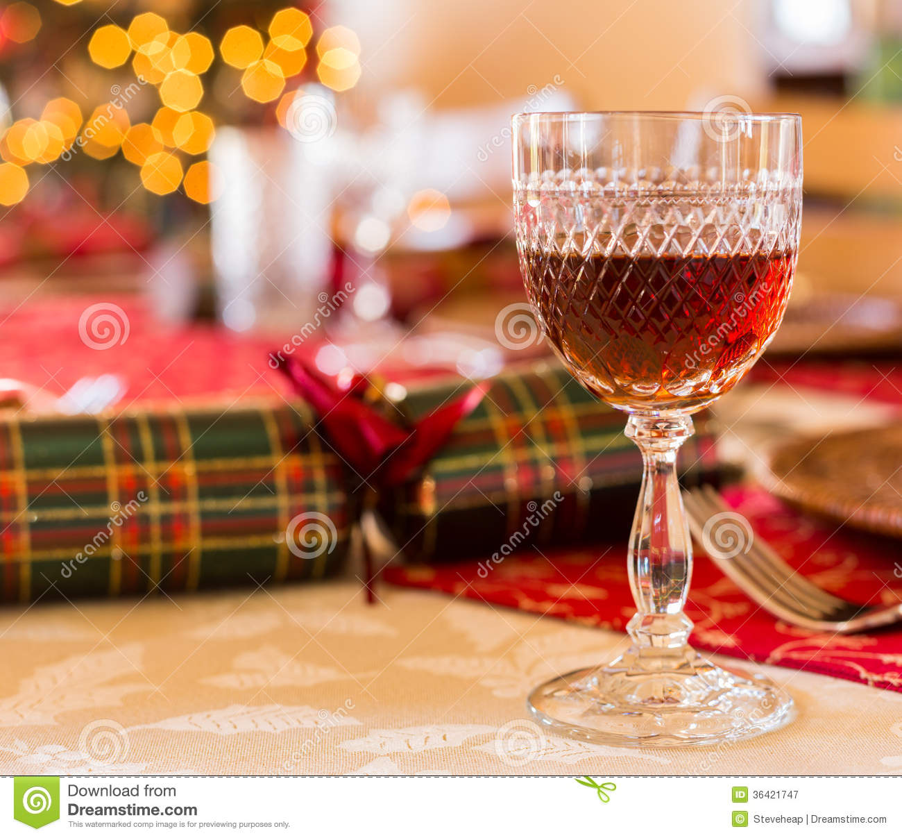 English Christmas Table With Sherry Glass Royalty Free  : english christmas table sherry glass cut goblet set lunch crackers decorated tree background 36421747 from www.dreamstime.com size 1300 x 1207 jpeg 197kB