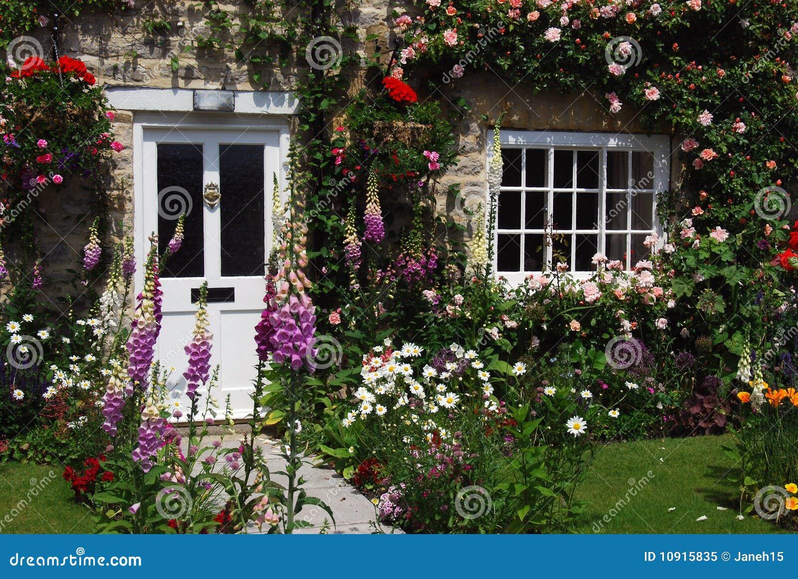 English Cottage Garden Royalty Free Stock Photo Image