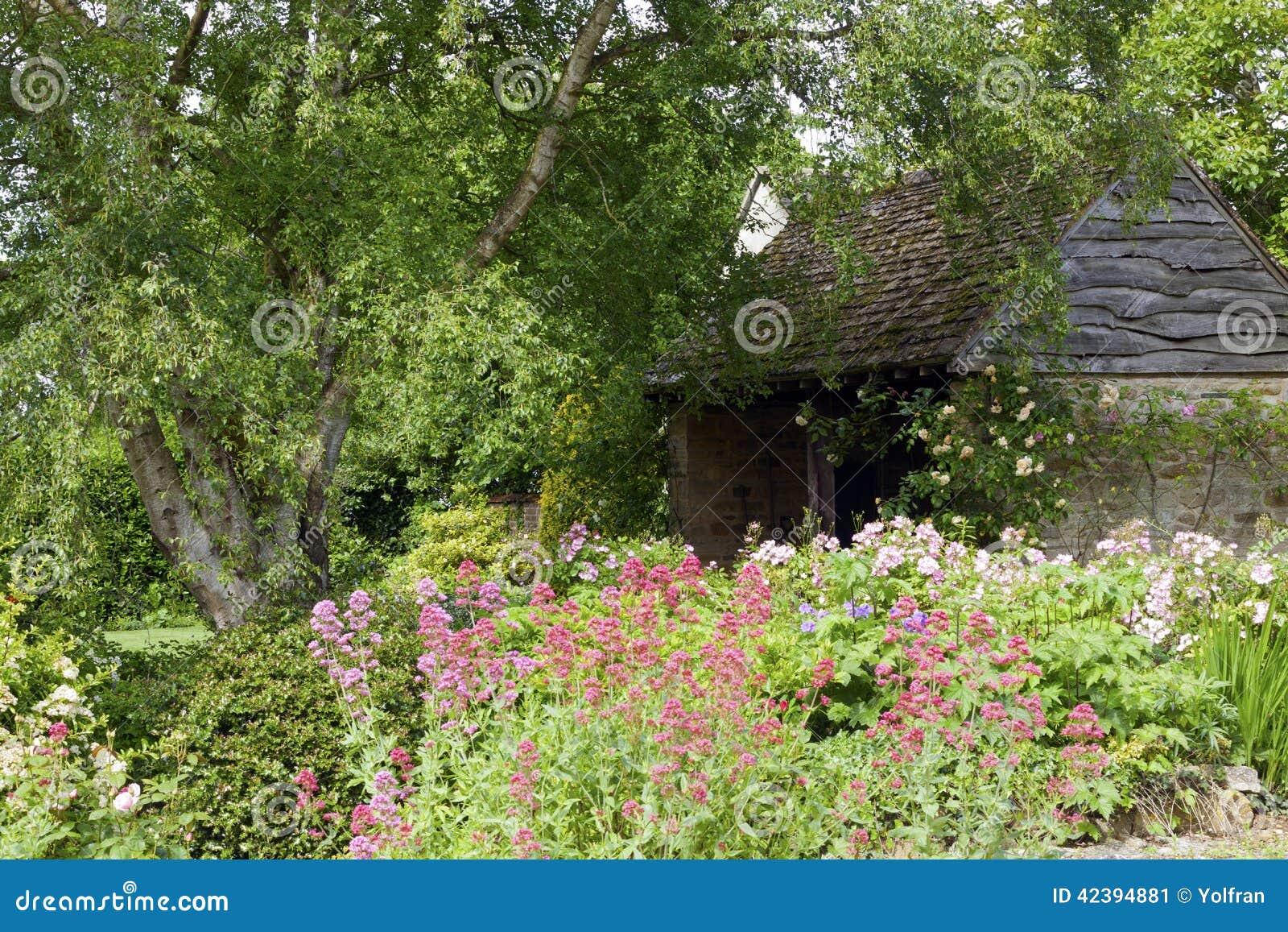 English Cottage Garden In Summer