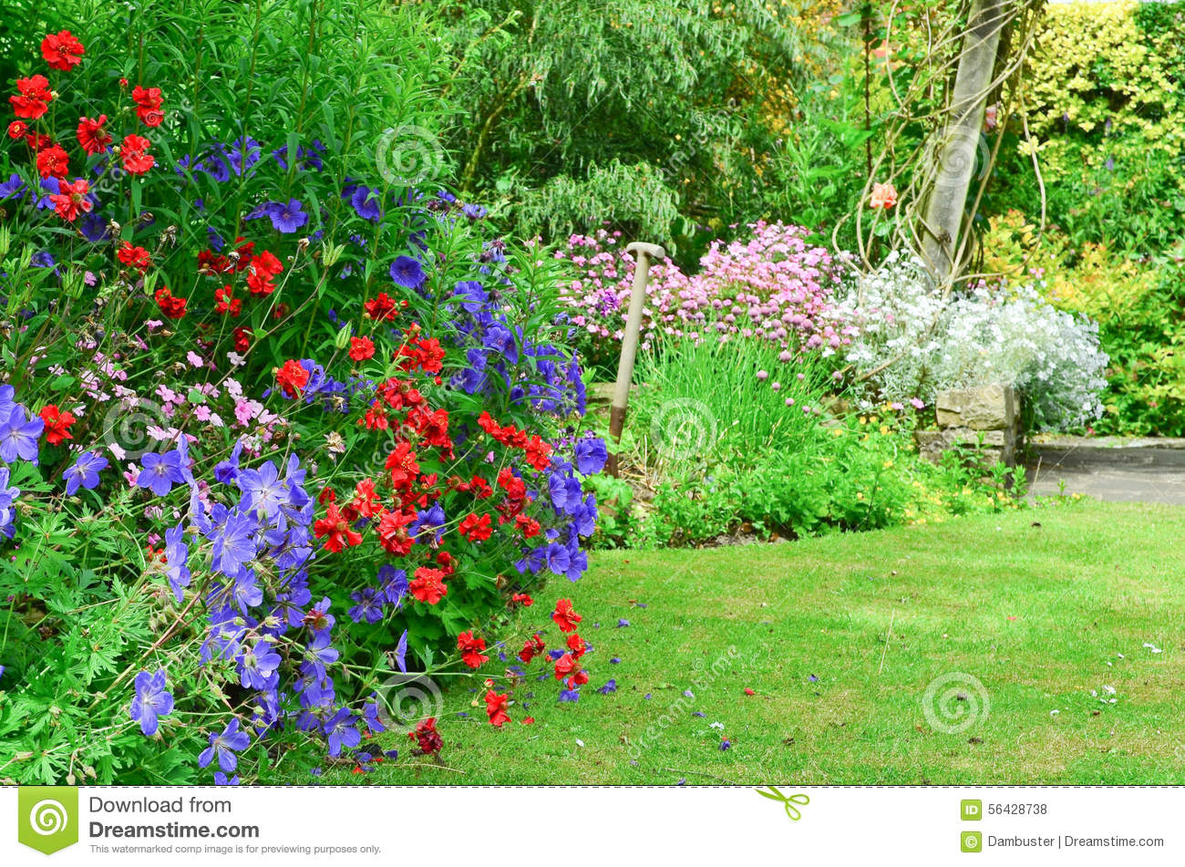 English Country Garden Stock Photo Image Of Country