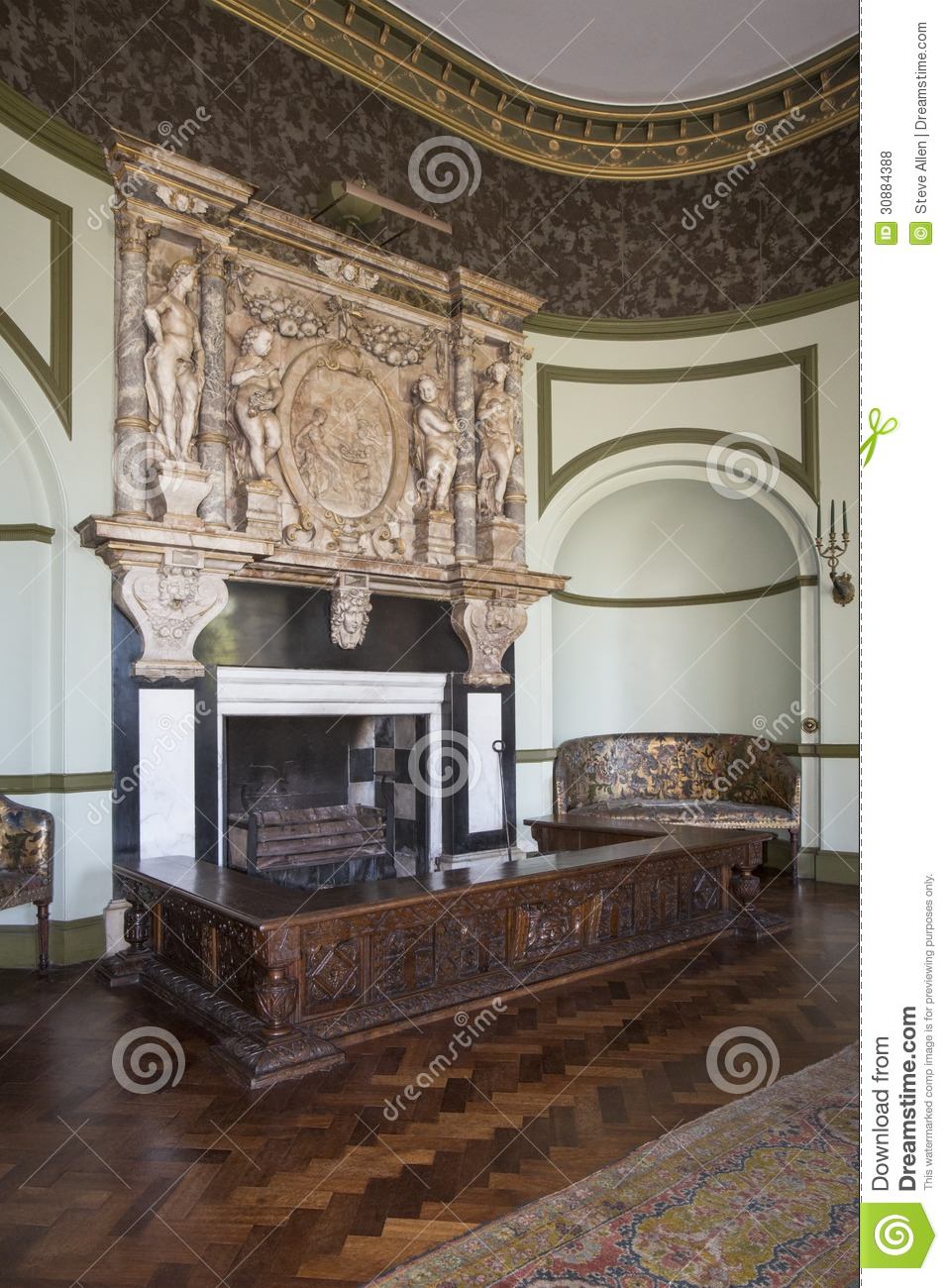 English Country Manor House - Interior Editorial Stock ...