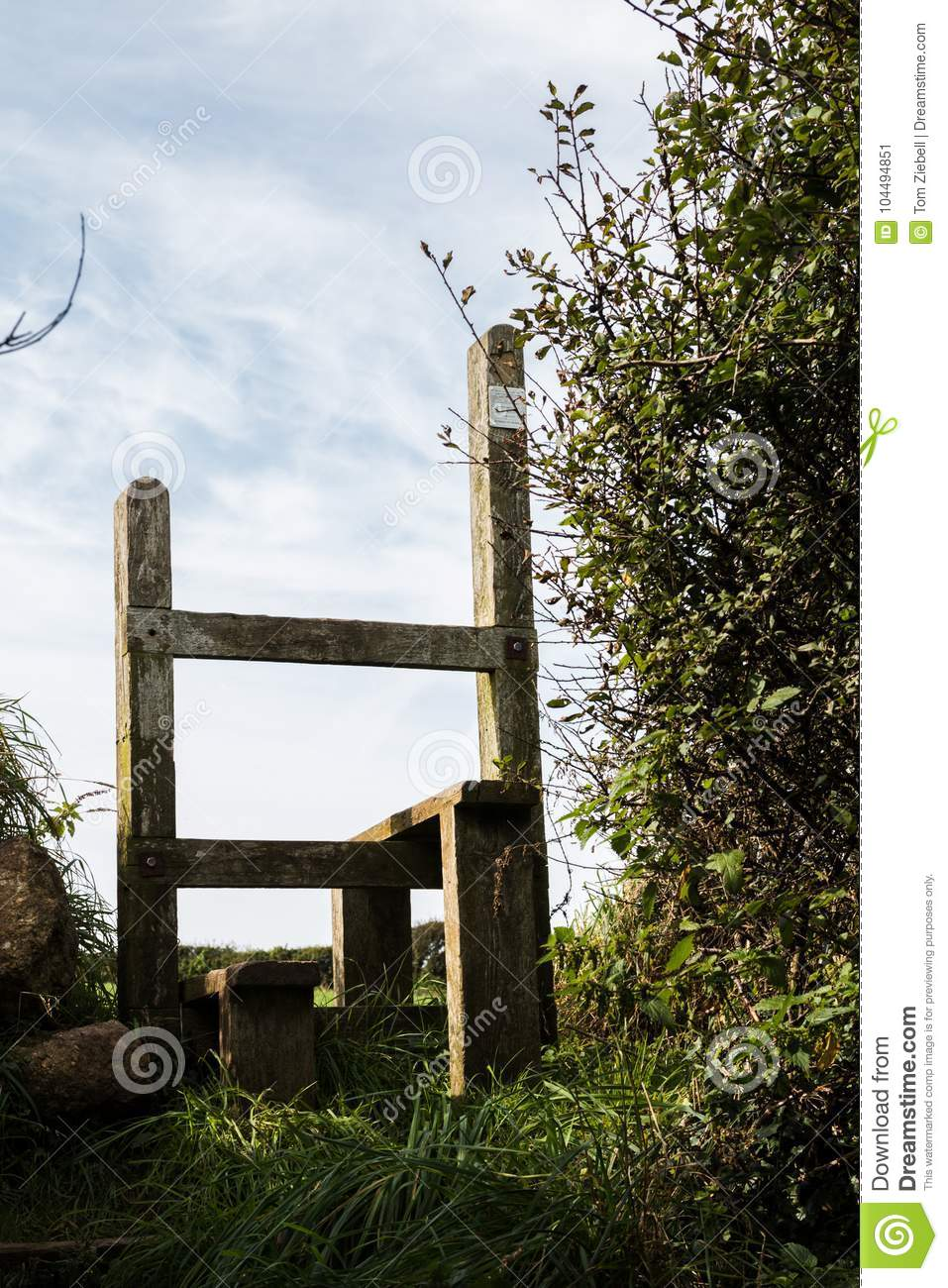 An English Country Stile Stock Image Image Of Pasture 104494851