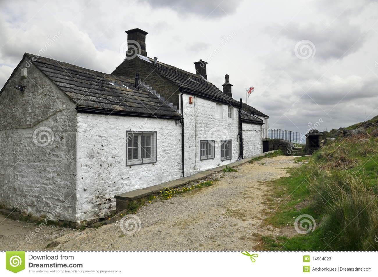 English countryside landscape old house clouds stock for Classic house landscape