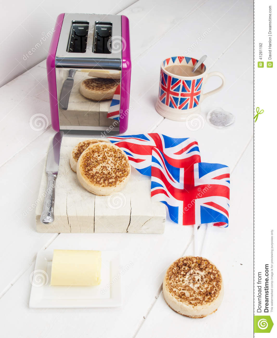 English crumpets with butter