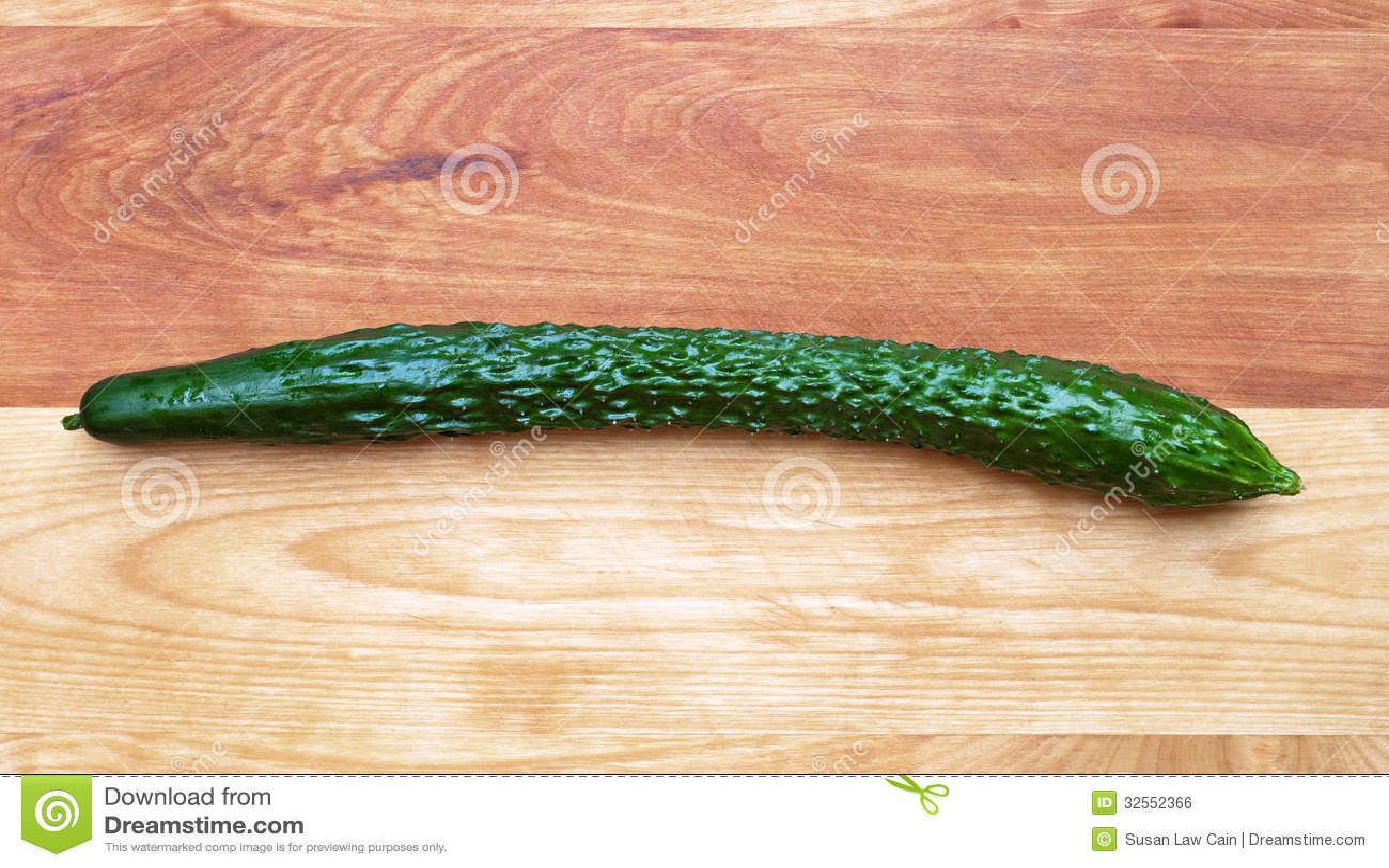 English Cucumber Long Thin Burpless Cutting Board