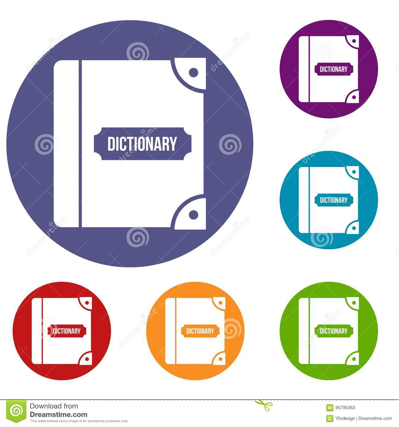 English dictionary icons set stock vector illustration of download comp ccuart Choice Image