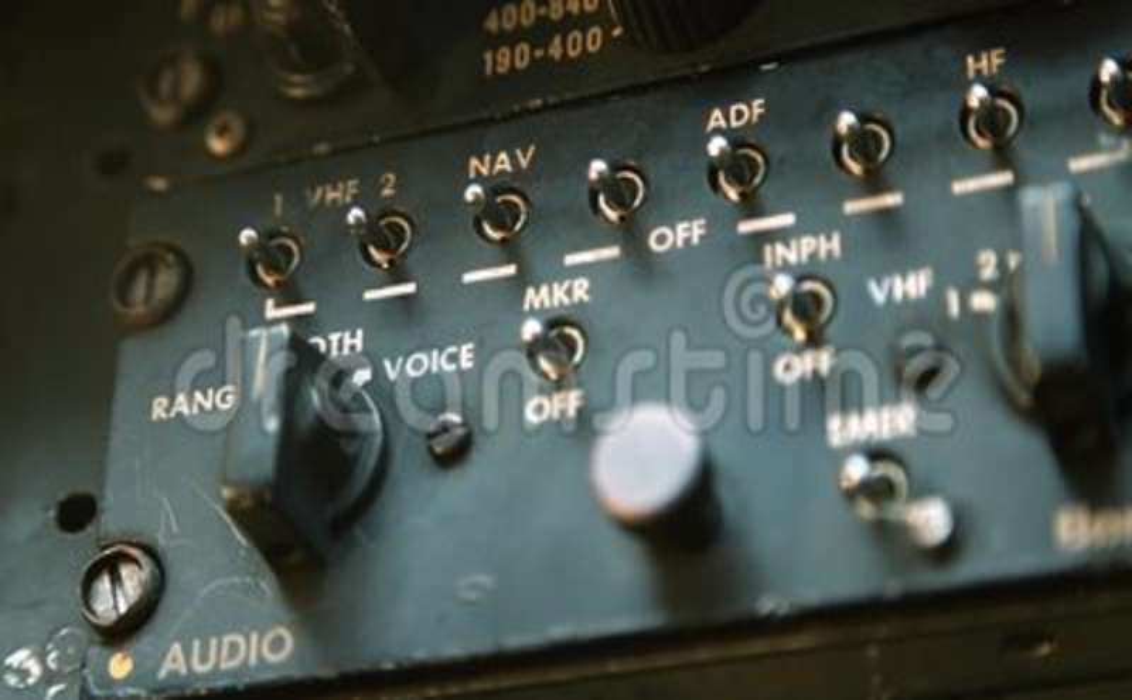 Old Airplane Radio Cockpit