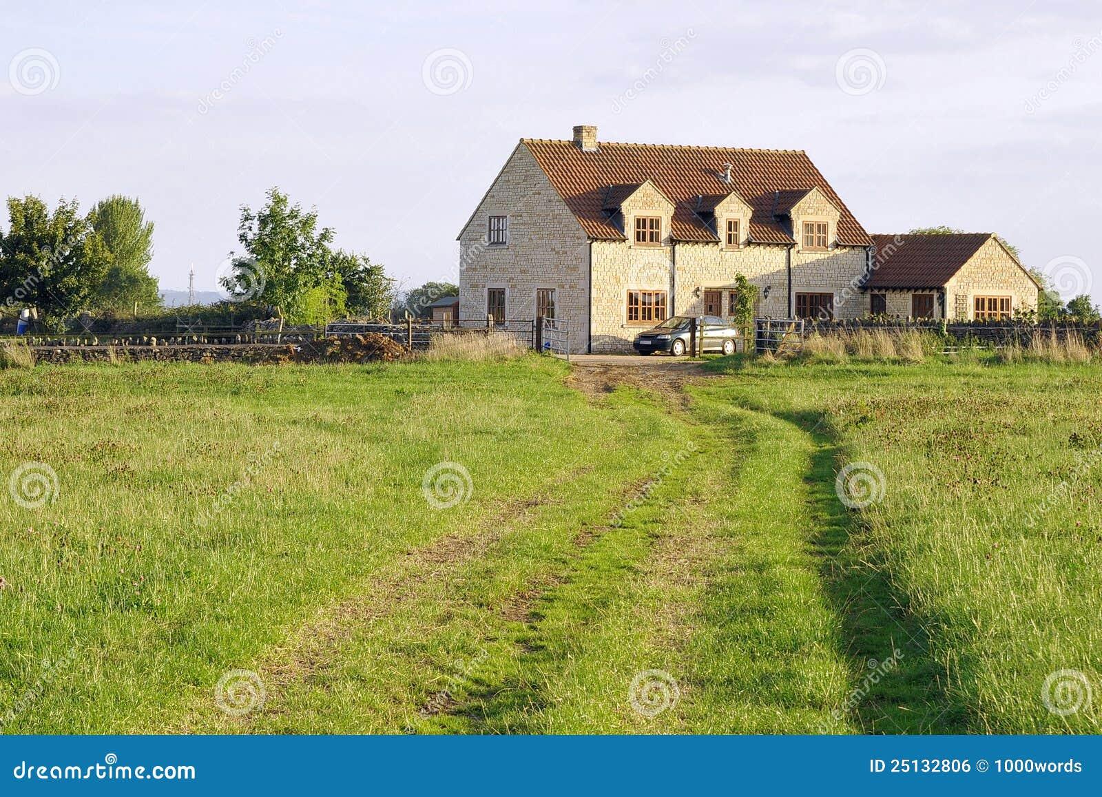 English Farmhouse And Grounds Royalty Free Stock Image Image