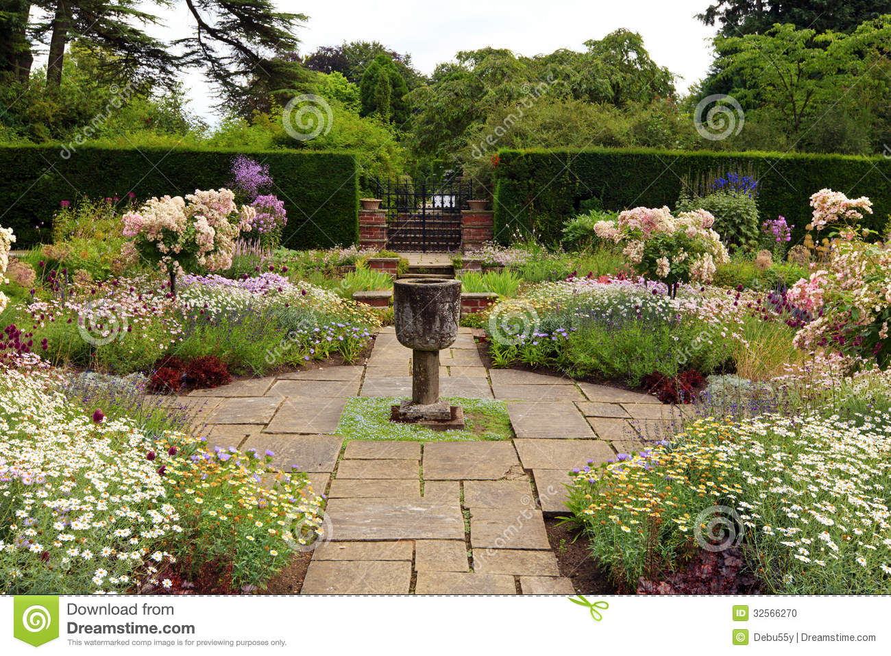 english formal garden  stock photo  image of nature  garden