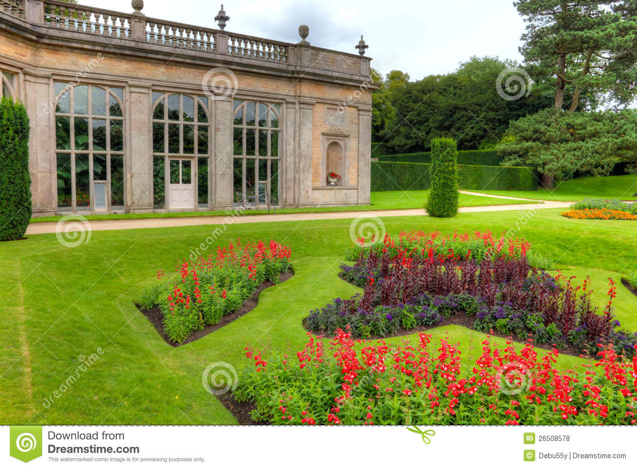 english formal gardens stock photo  image of blue  country