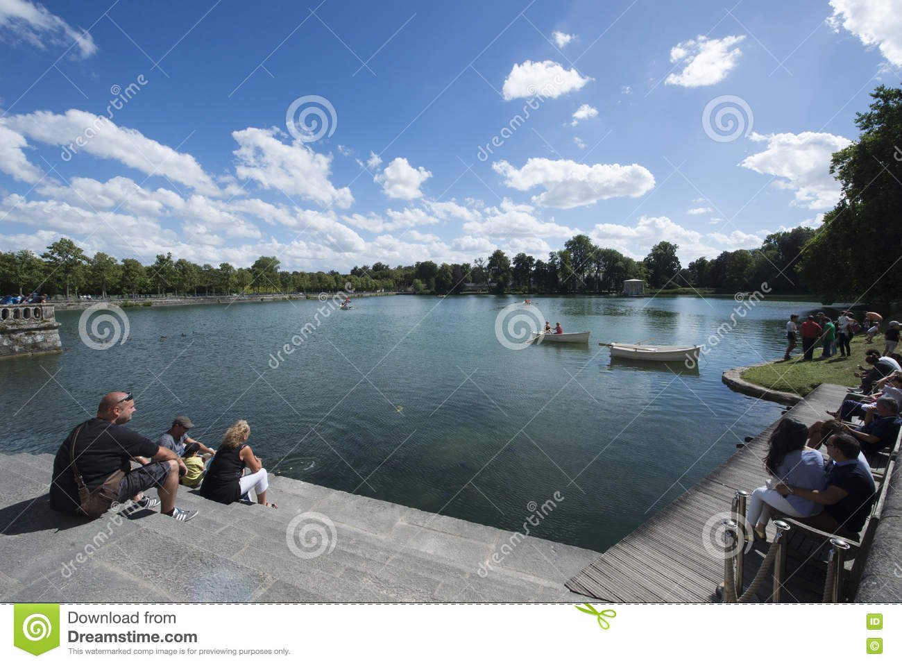 English Garden And Etang Pond At The Palace Of Fontainebleau France