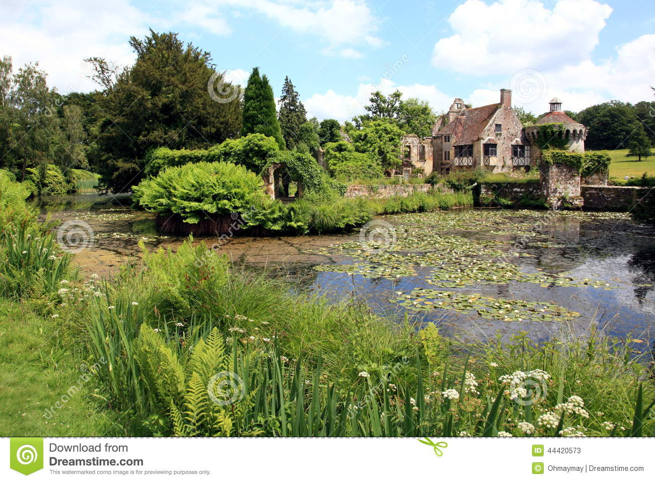 English Garden And Lake In Spring Stock Photo Image