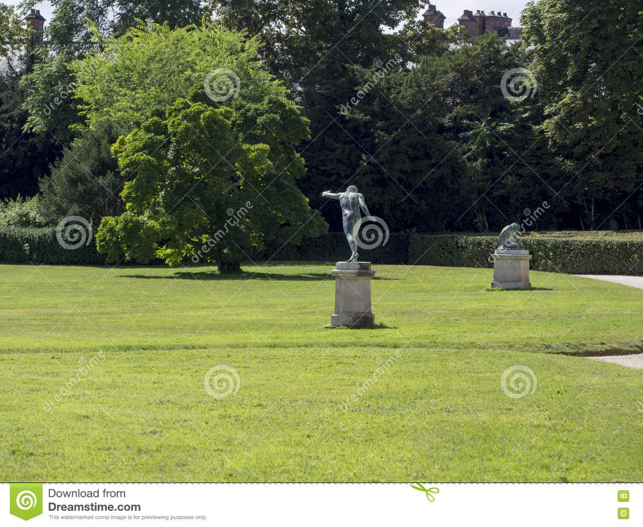 English Garden At The Palace Of Fontainebleau France Stock Image