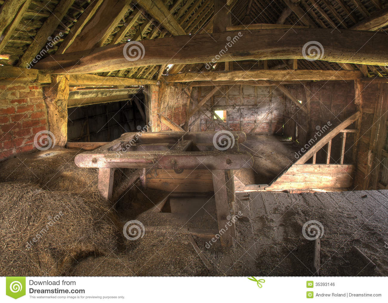 Download English Hay Barn Interior Stock Photo Image Of European