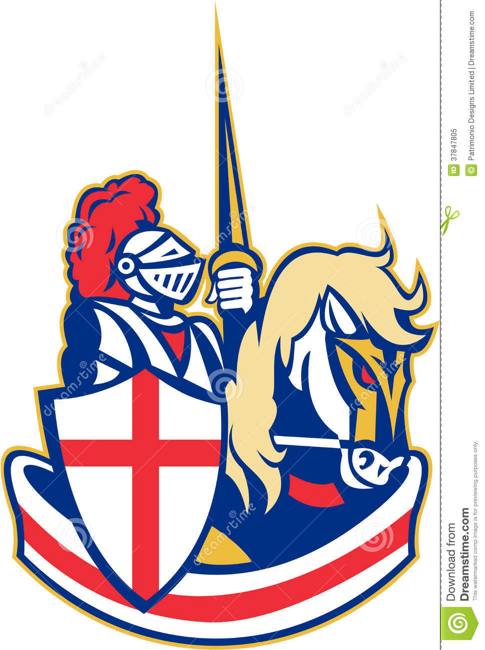 english knight riding horse england flag retro stock british flag vector art free british flag vector free download