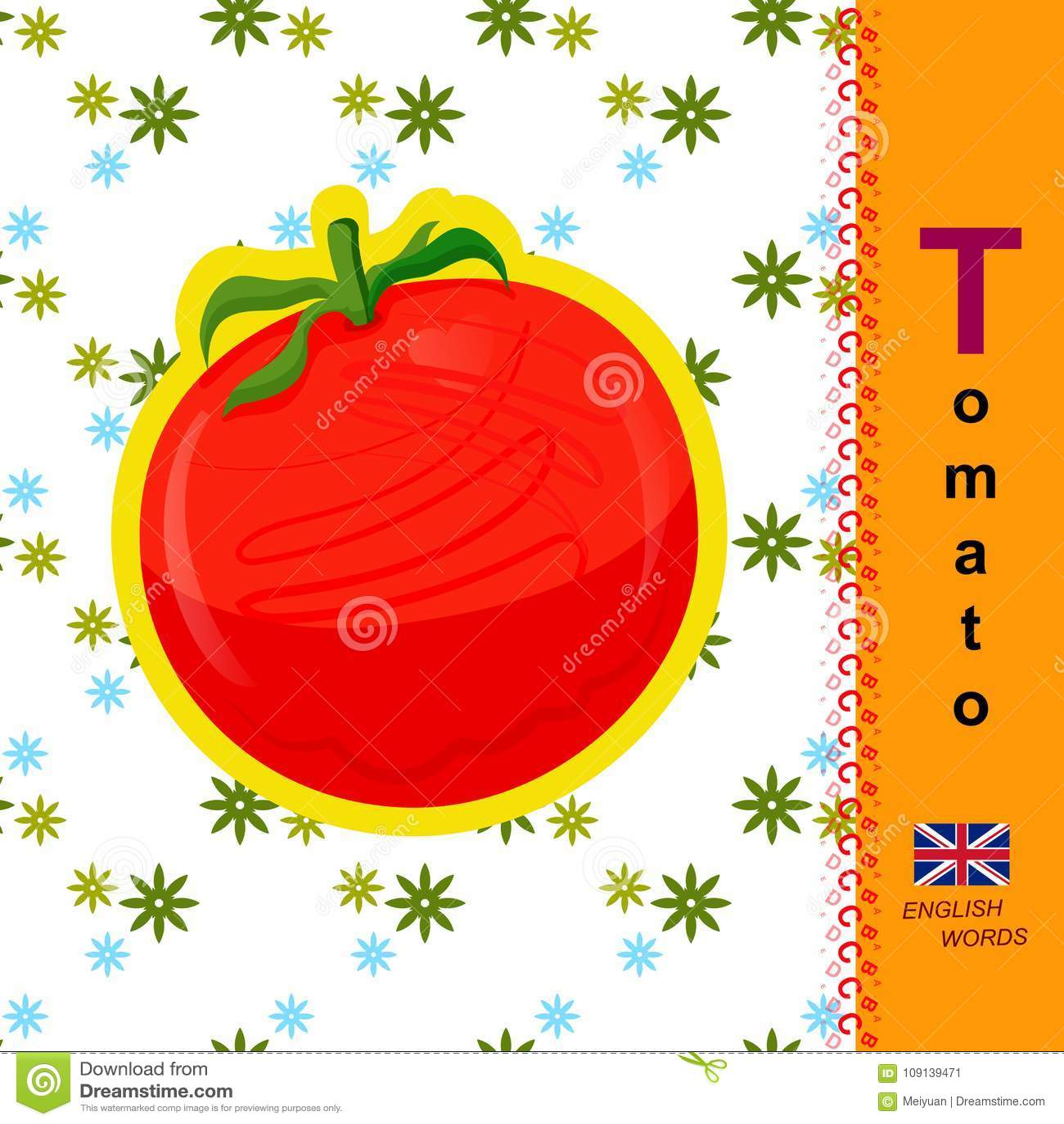 english letter t tomato