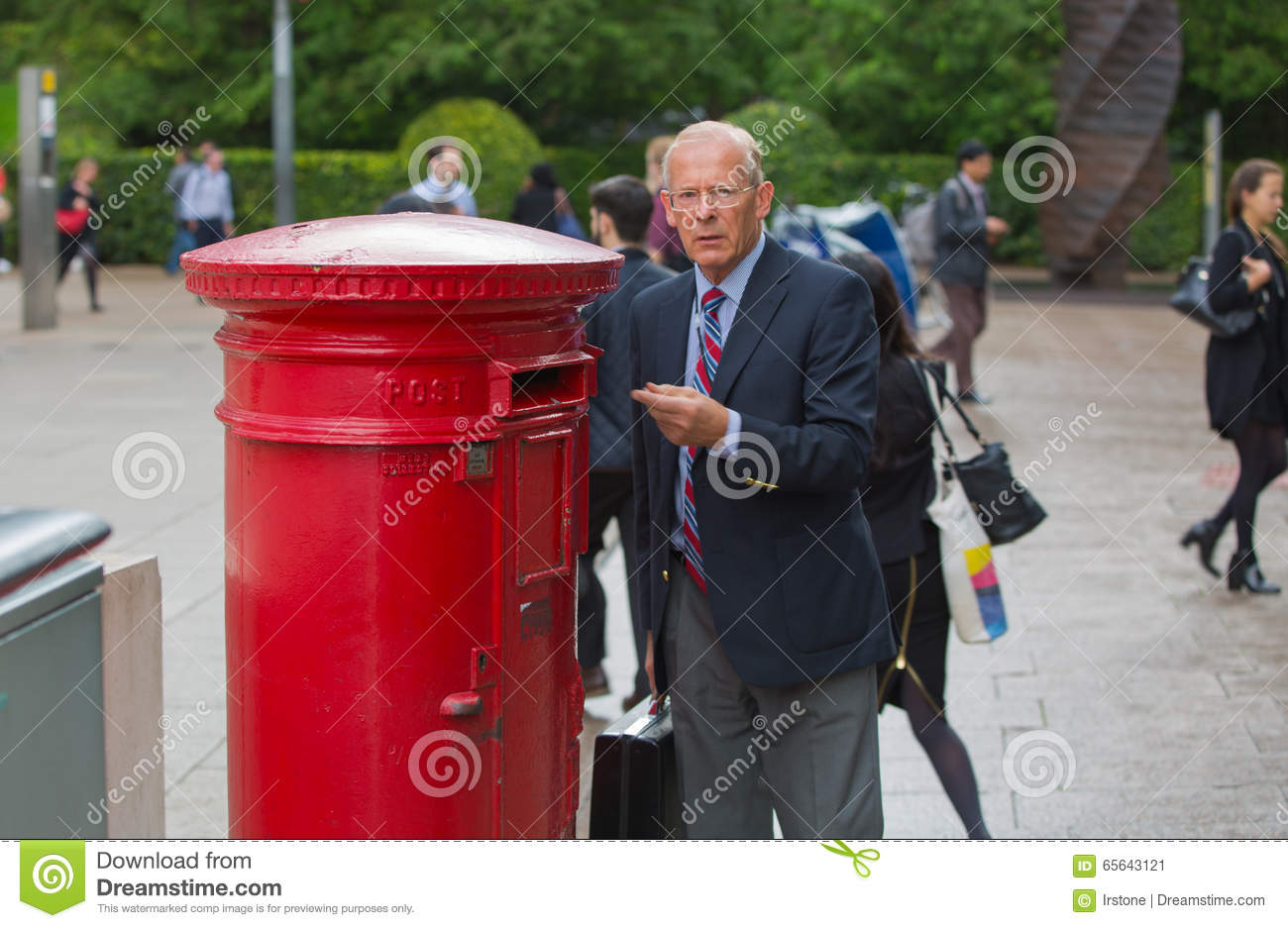 English Man Sending A Letter London Editorial Photo  Image Of