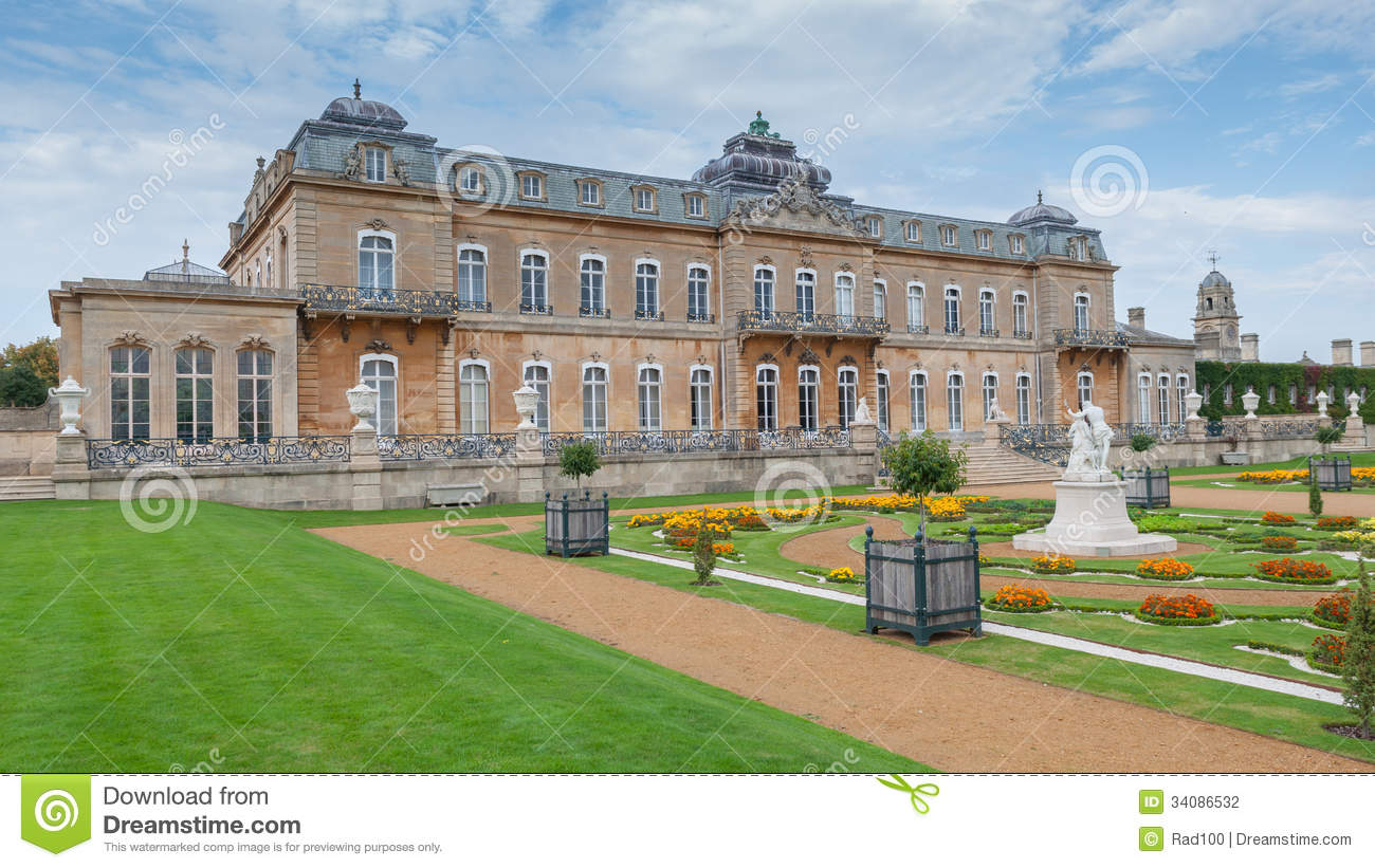 Stock Photography English Mansion Wrest House Th French Style Berdfordshire Uk Image34086532 on French Country Style Home Plans