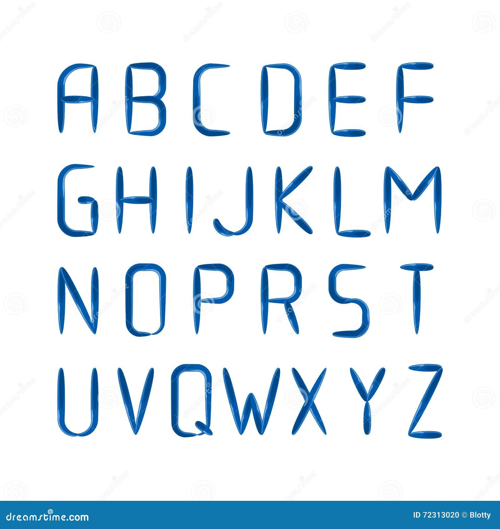 english modern letters set over black stock vector illustration of