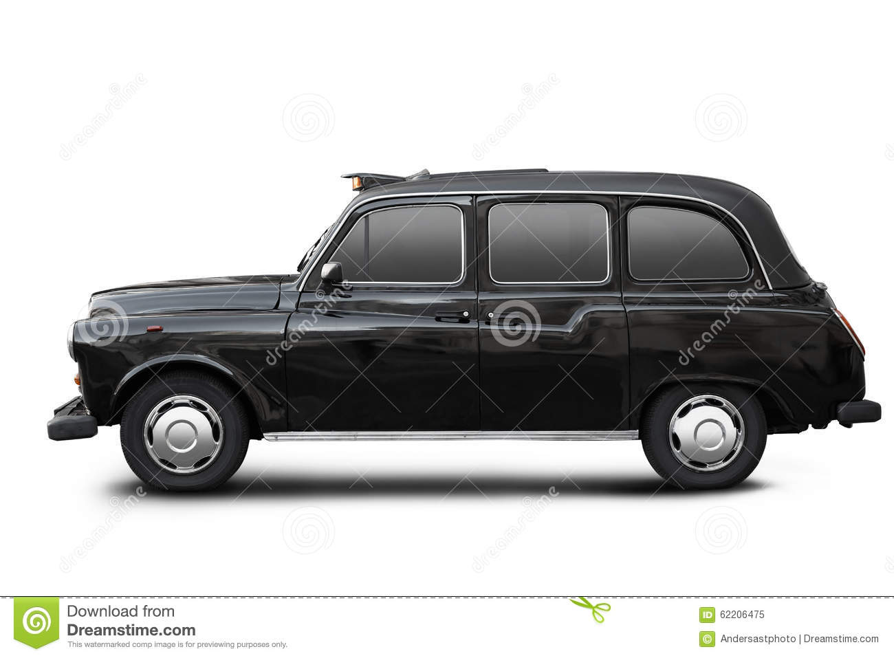 English old taxi black cab on white stock image image - Dessin taxi anglais ...