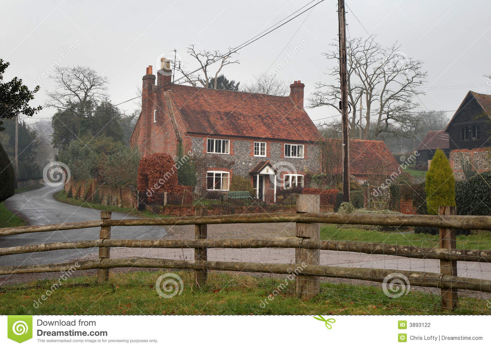 English Rural Farmhouse Stock graphy Image