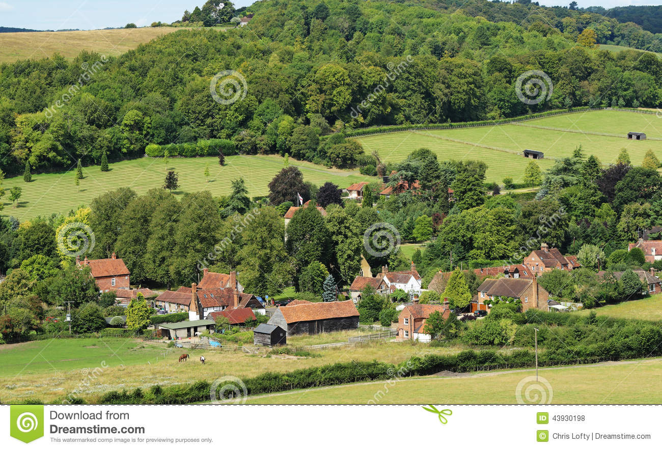 An English Rural Hamlet In Oxfordshire Stock Photo Image
