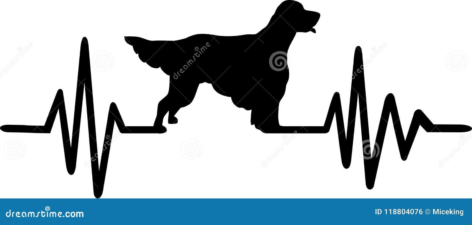 ebb16a2b1a336 English Setter heartbeat stock vector. Illustration of animal ...