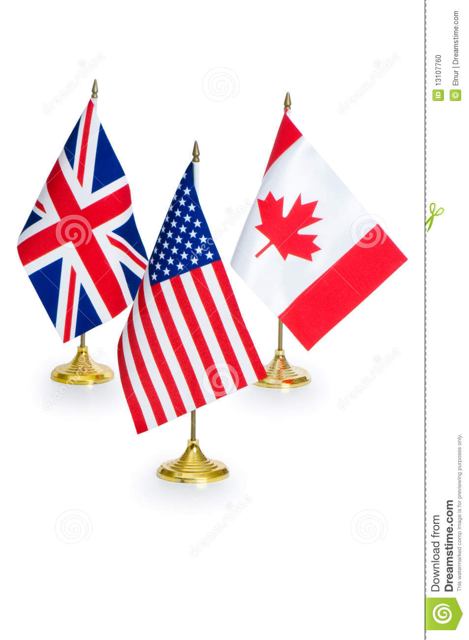 English Speaking Countries Flags Isolated Stock Photo - Image ...