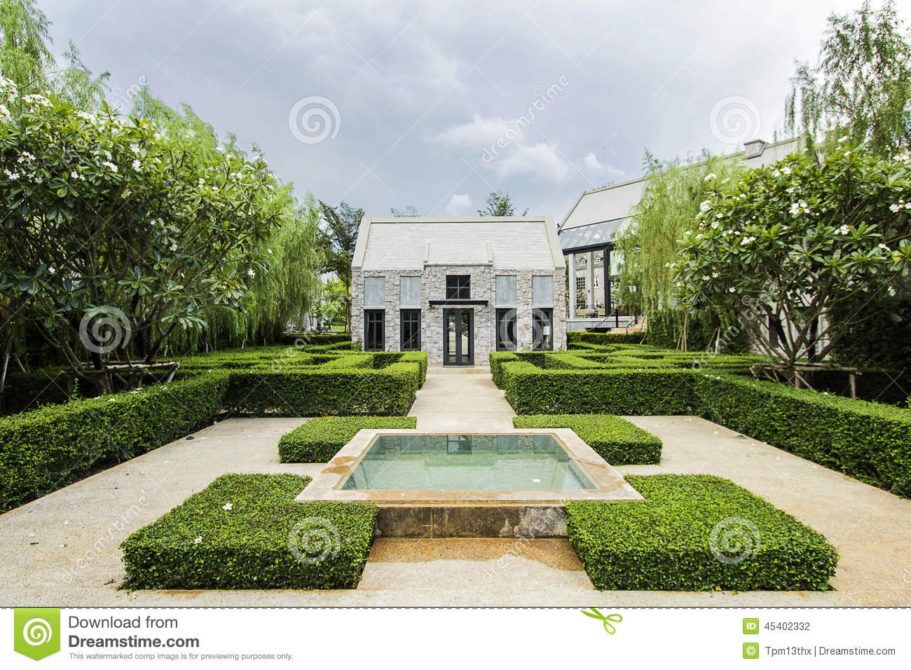 English style countryside white house stock photo image of style white 45402332 - Countryside dream gardens ...