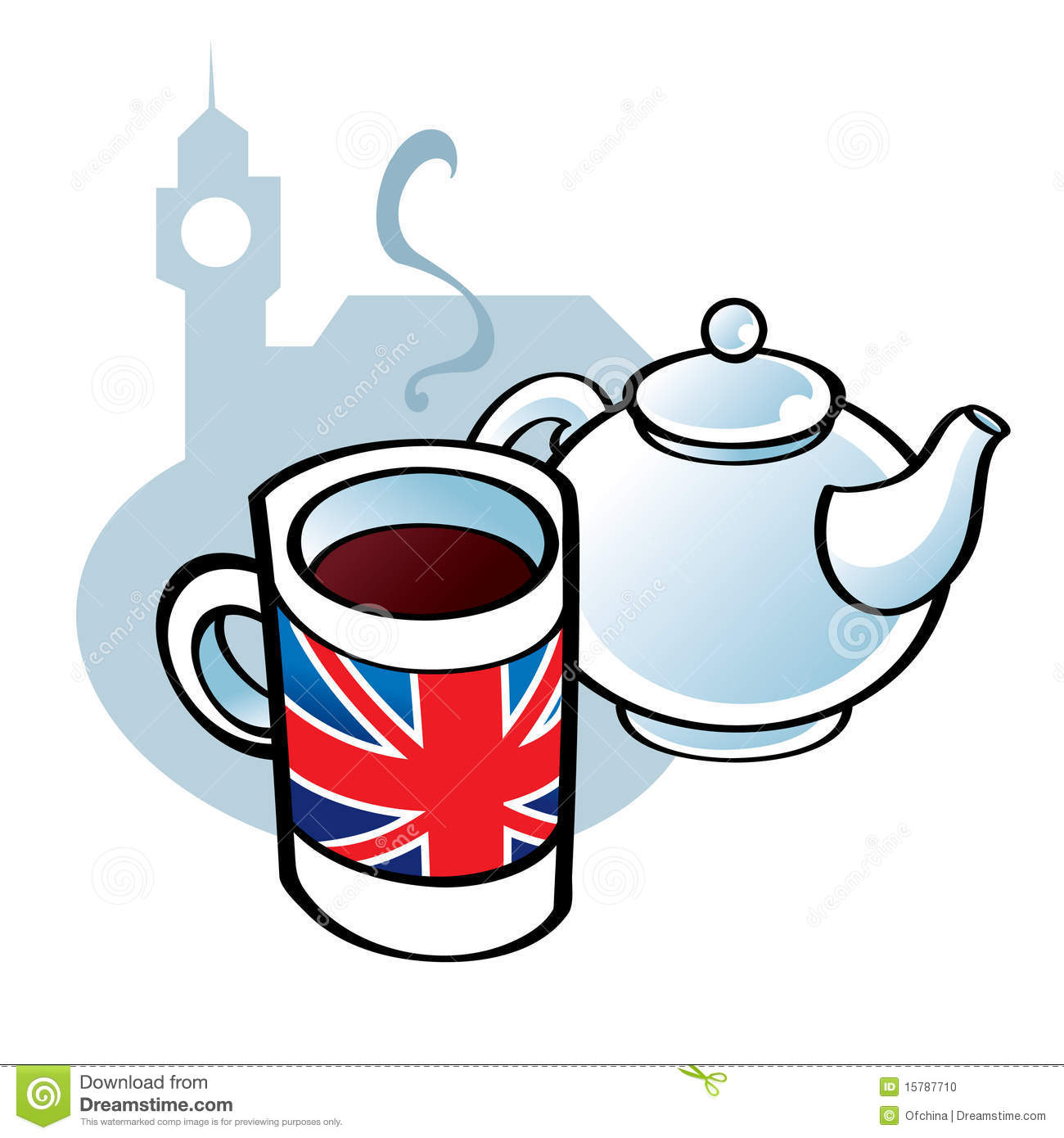 English Tea Cup Coffee Big Time Id