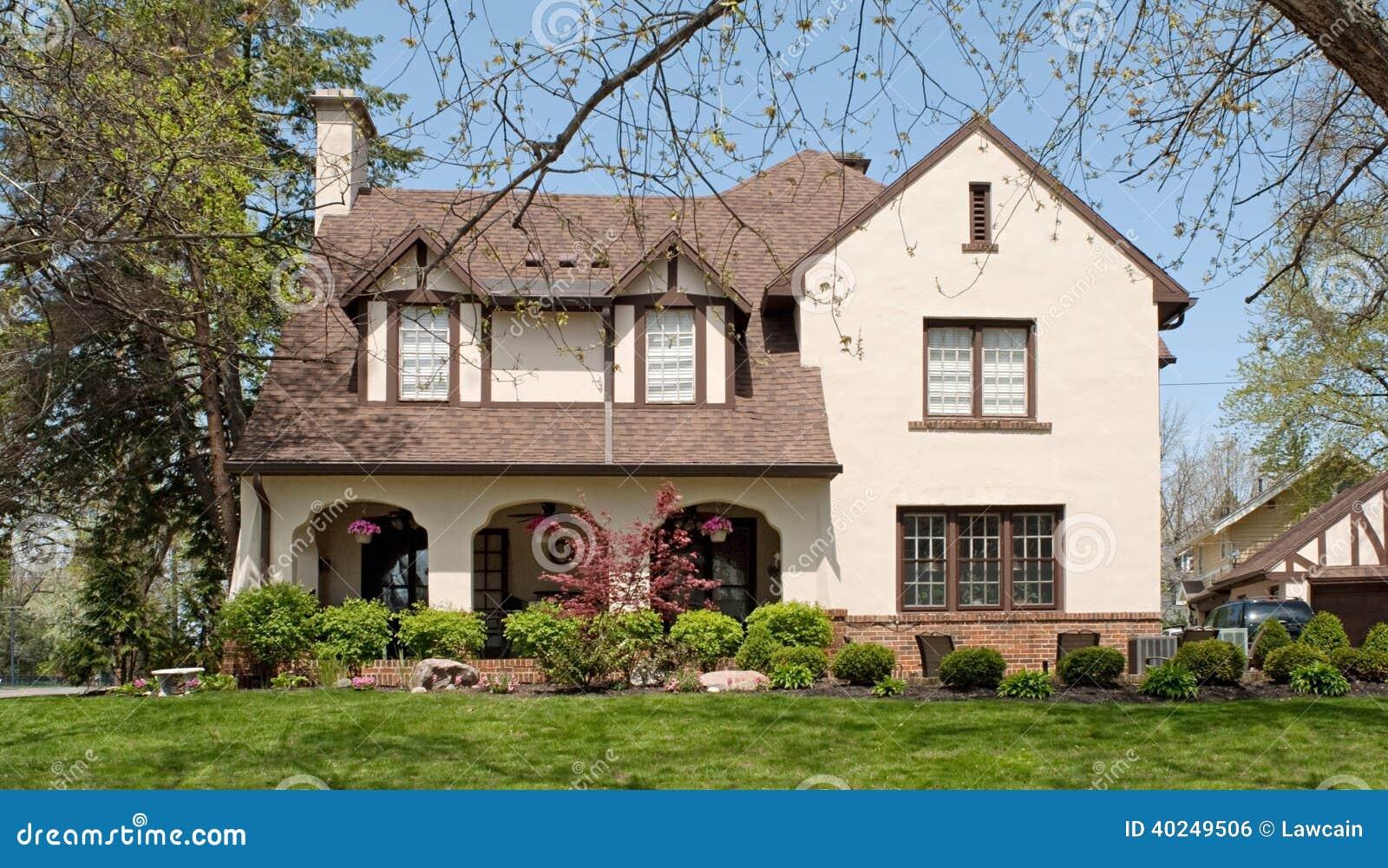 English Tudor Style Home Stock Photo Image 40249506