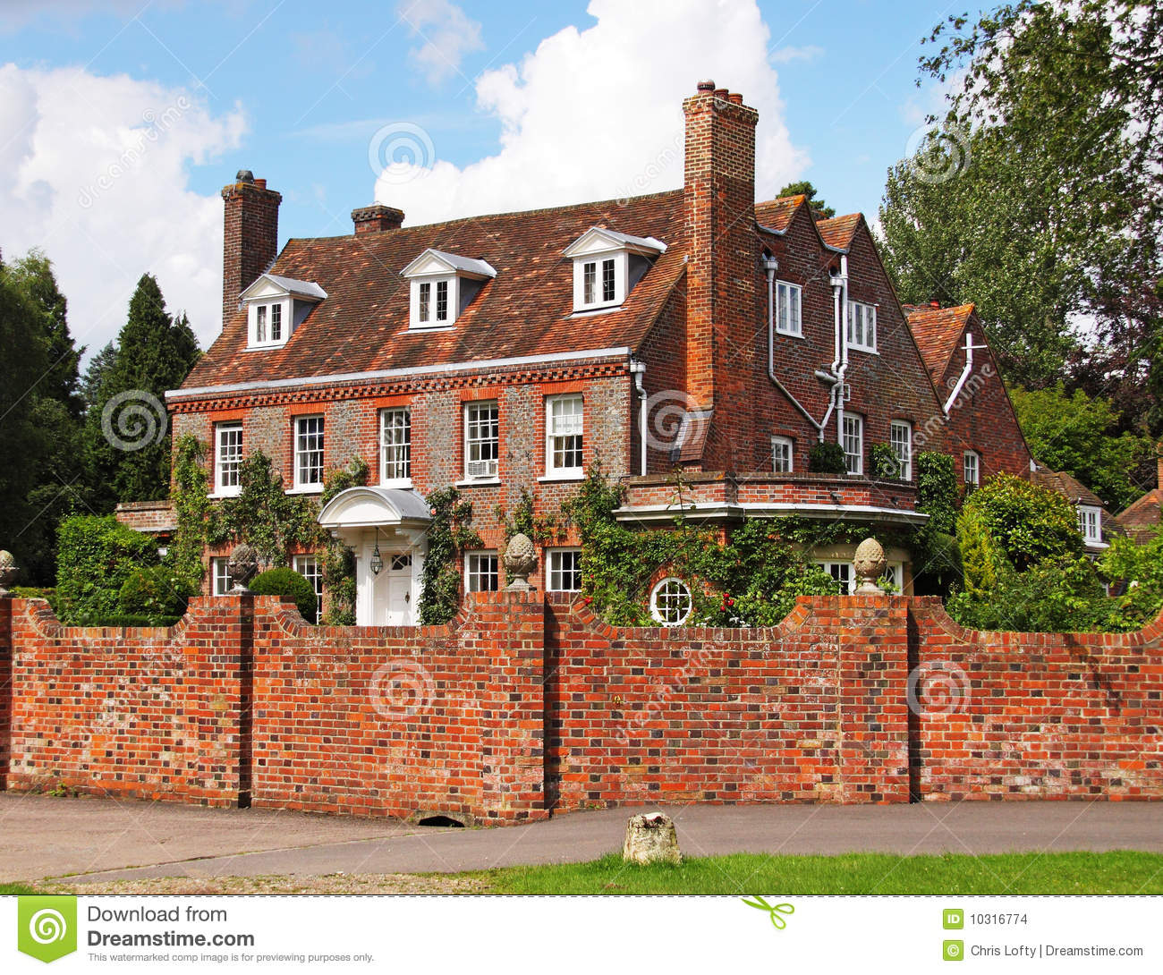 English Village Manor House Stock Photo Image 10316774