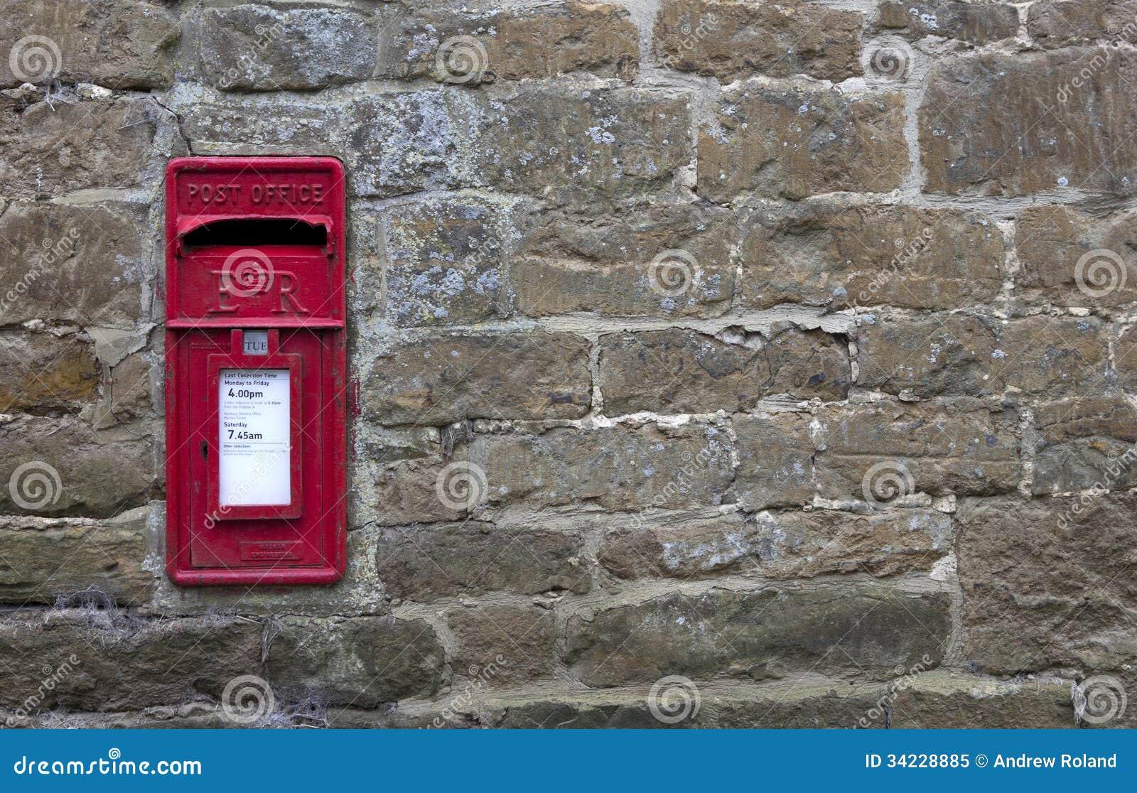 English Village Post Box Stock Image Image Of Letterbox