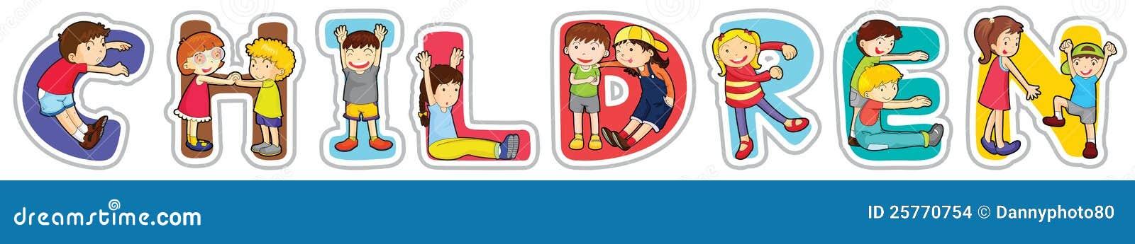 English word children stock illustration. Illustration of ...