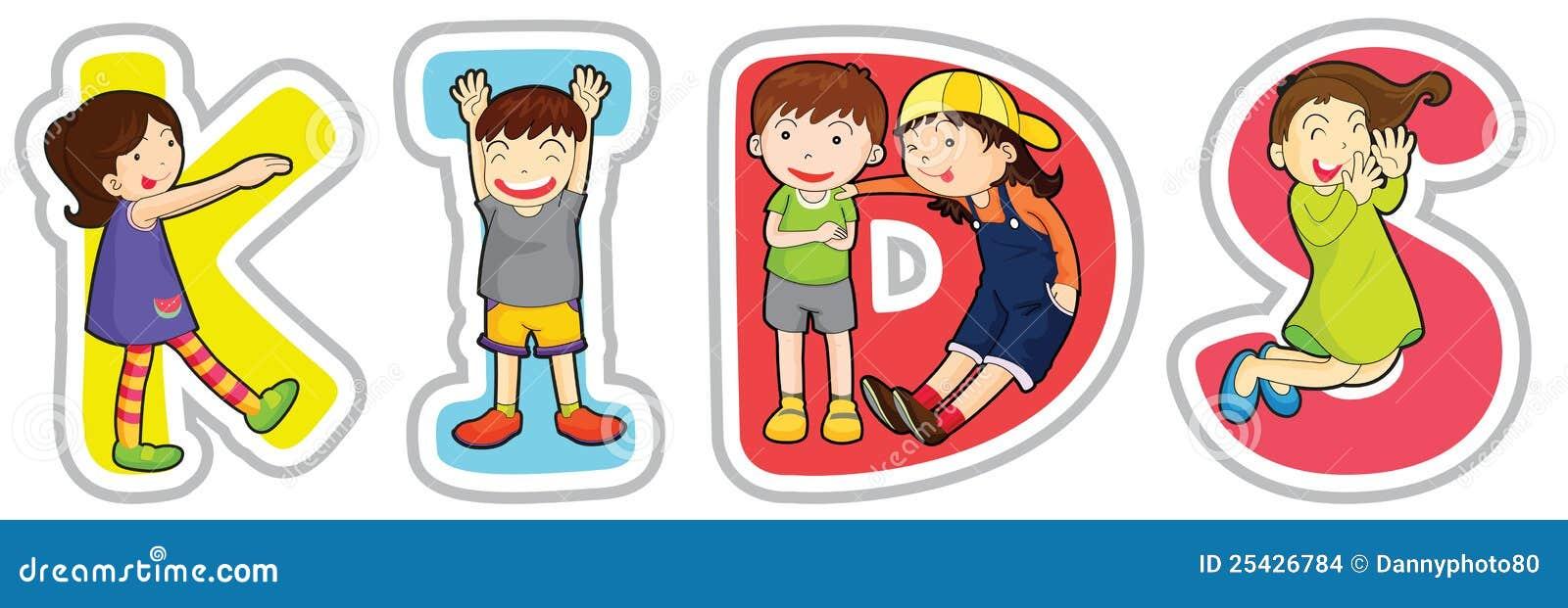 English word kids stock illustration. Illustration of ...