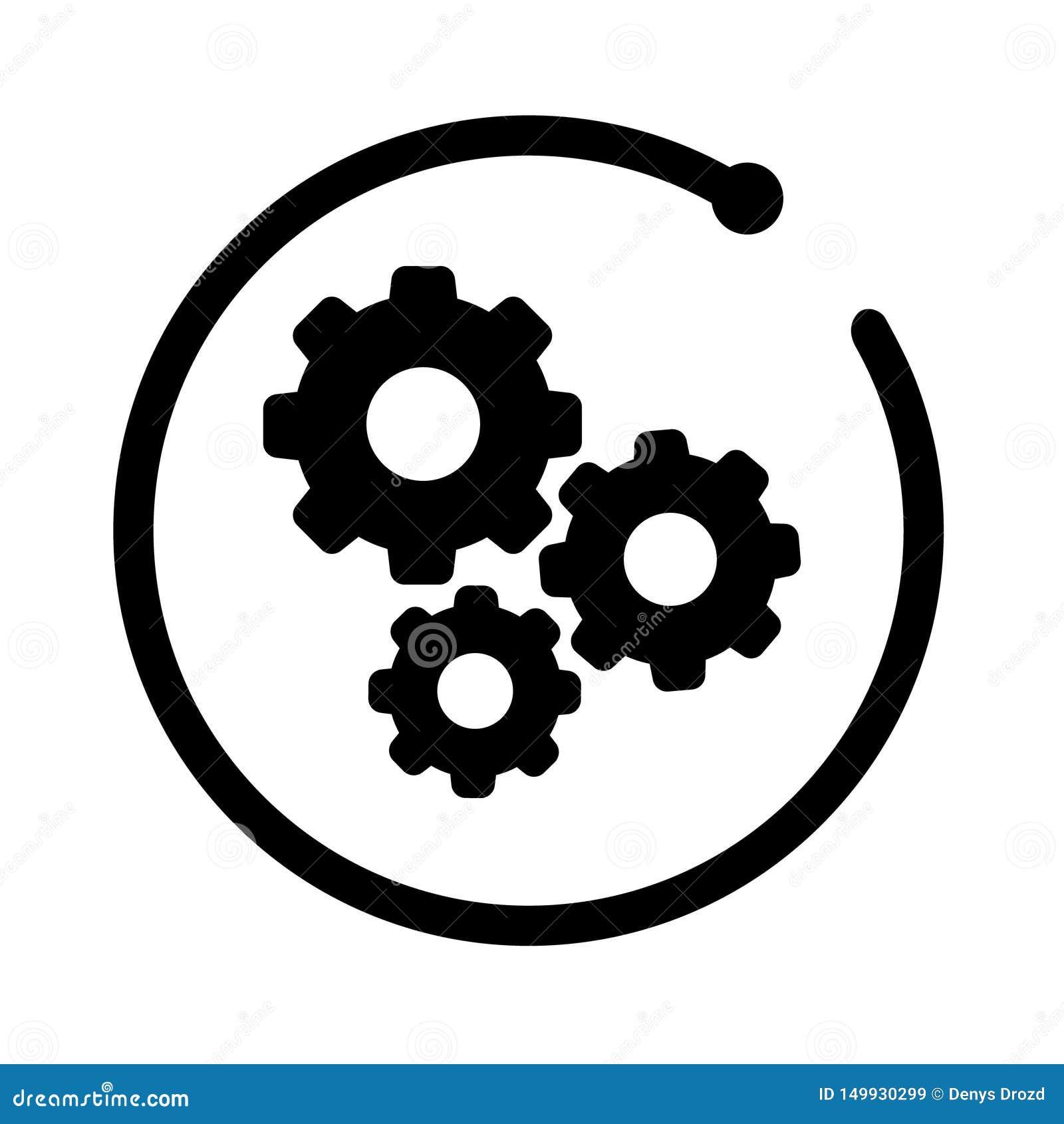 Engrana el icono Icono de los ajustes del vector plantilla automotriz del logotipo Logotipo automotriz con el marco moderno aisla