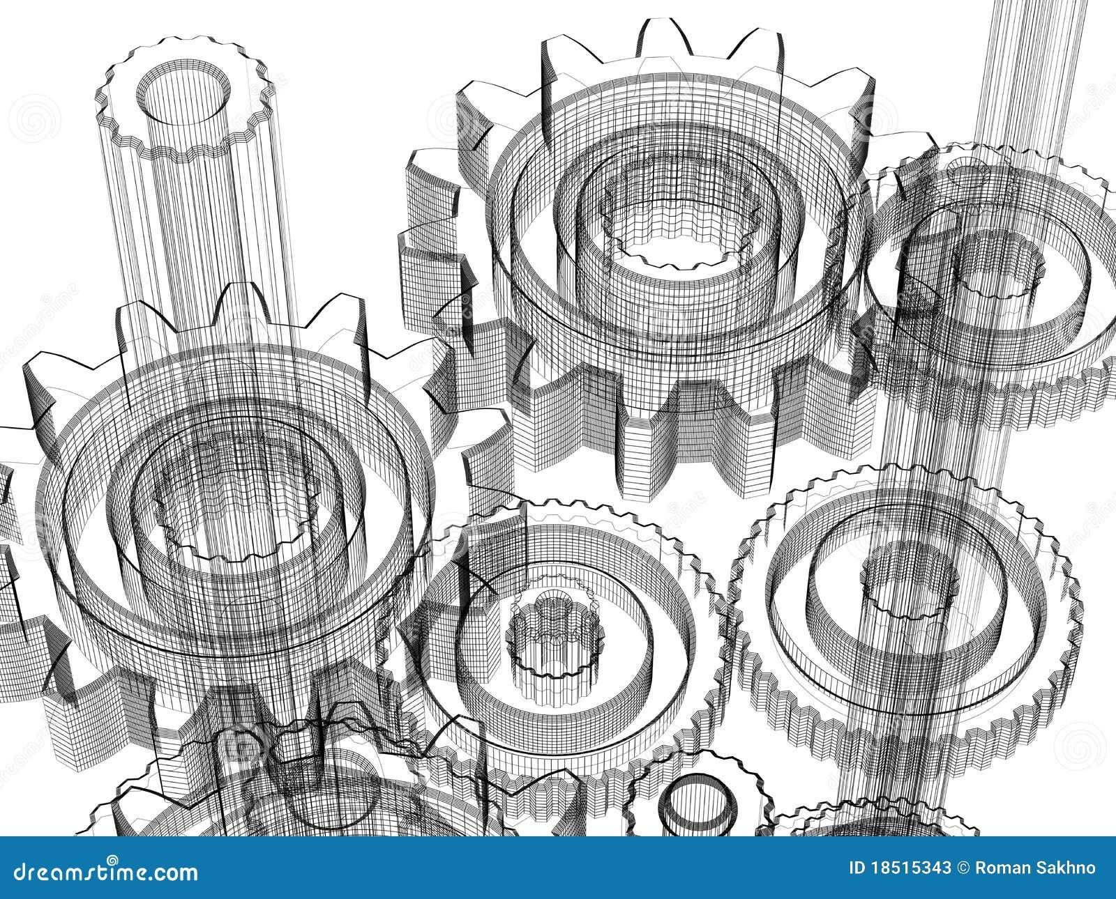 Engranajes concepto de dise o industrial fotos de for Arquitectura o diseno industrial