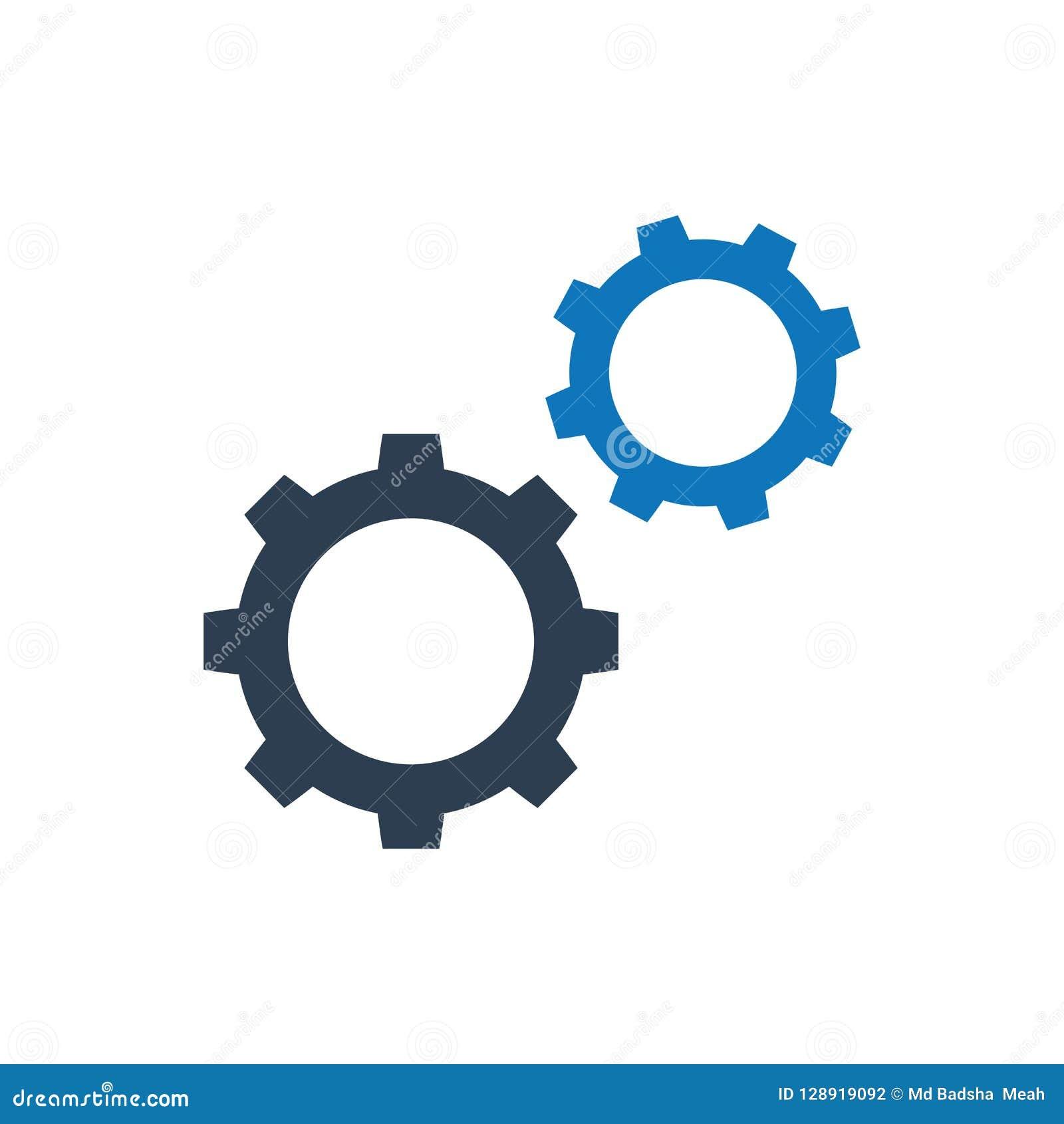 Engranajes, configuración, icono