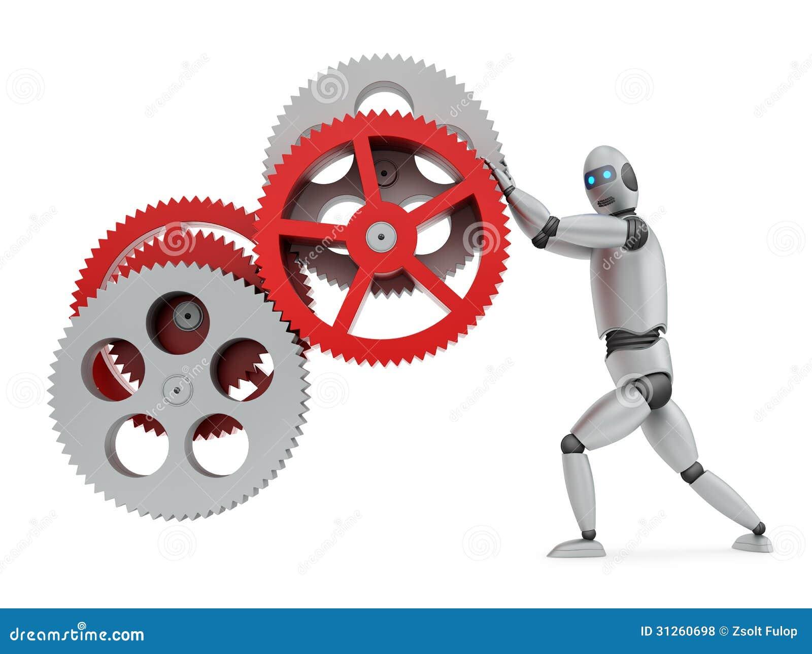 Engranajes De Funcionamiento Del Robot Fotos De Archivo
