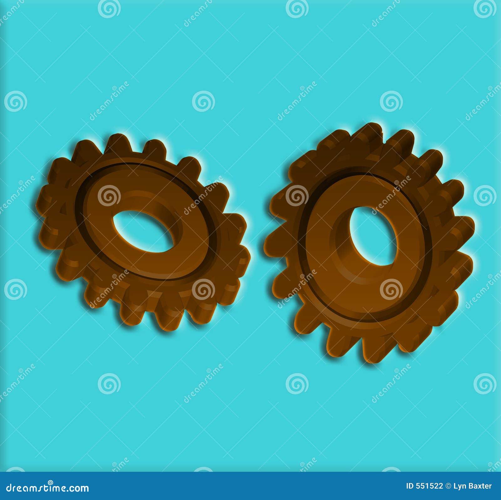 Engrenagens 7 rodas denteadas