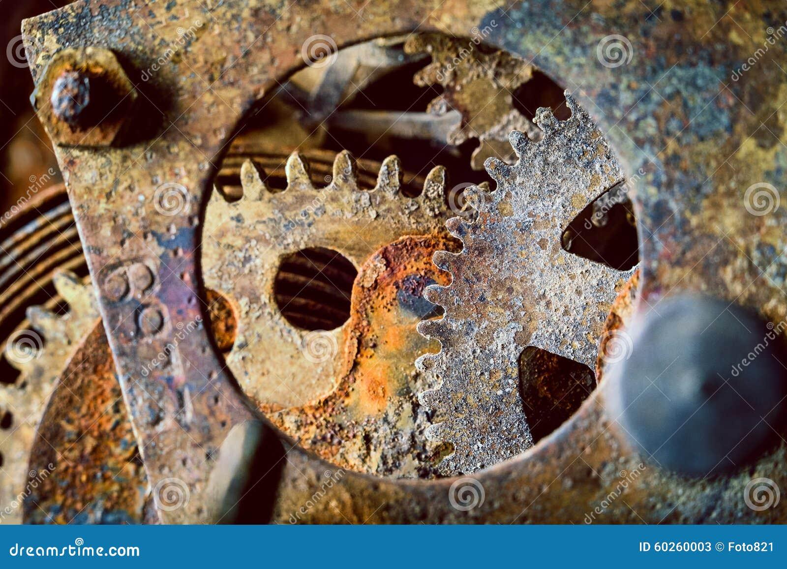 Engrenagens oxidadas