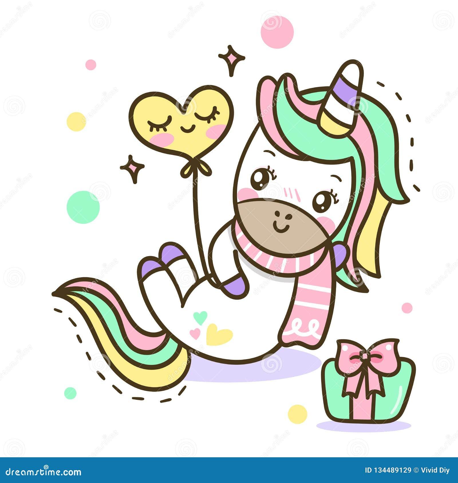 Enhörningvektorsymbol som isoleras på vit Ponnyklistermärke, lappemblem Gulligt djur för magisk tecknad filmfantasi Regnbågehår