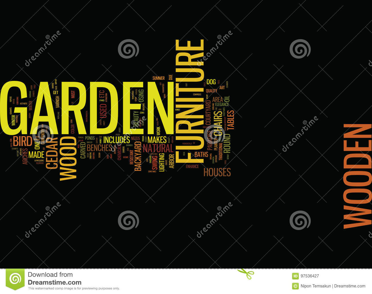 Lovely Enhance The Elegance Of Your Garden With Beautiful Carpentry Word Cloud  Concept