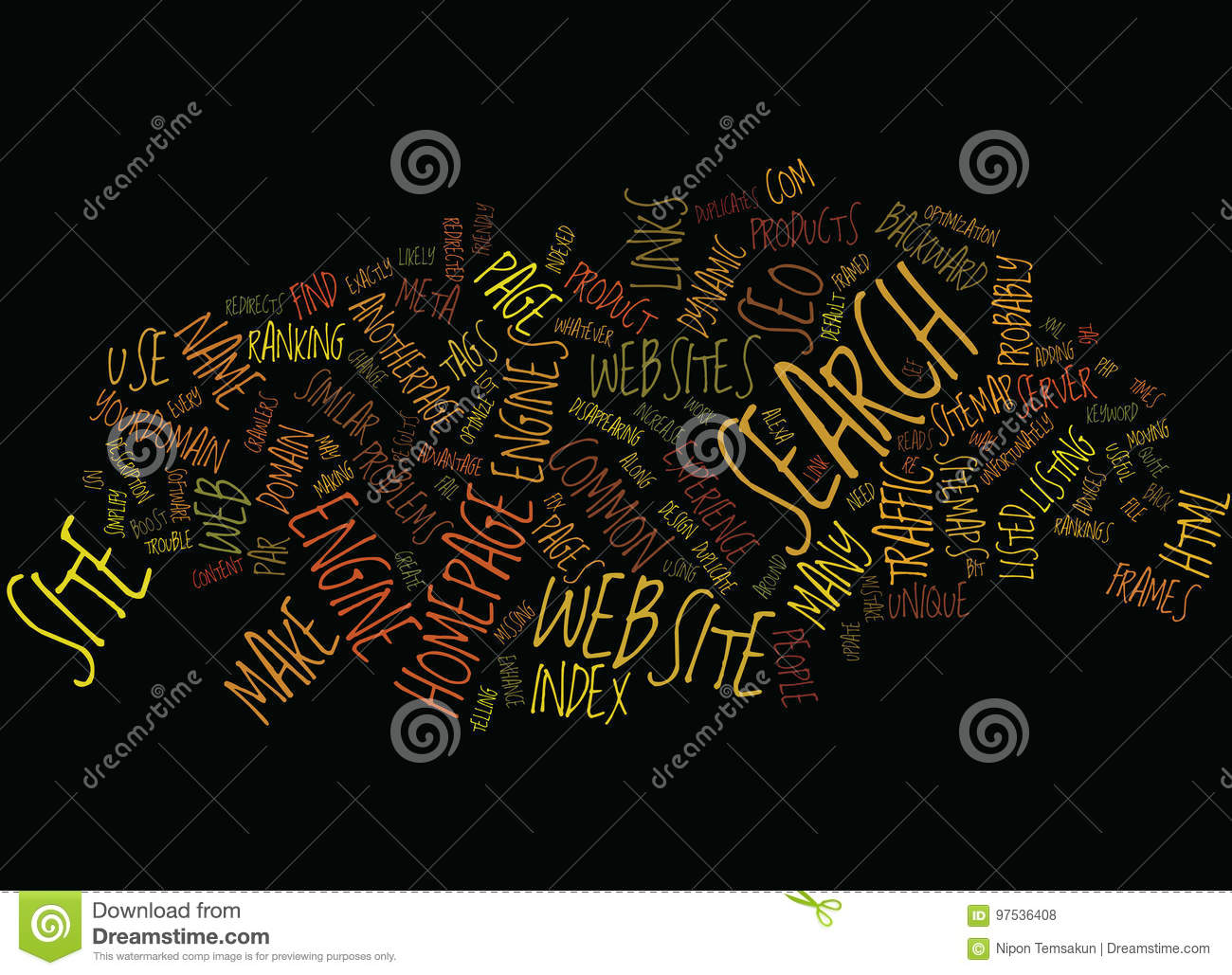 Enhance And Fix You Site For Seo Word Cloud Concept