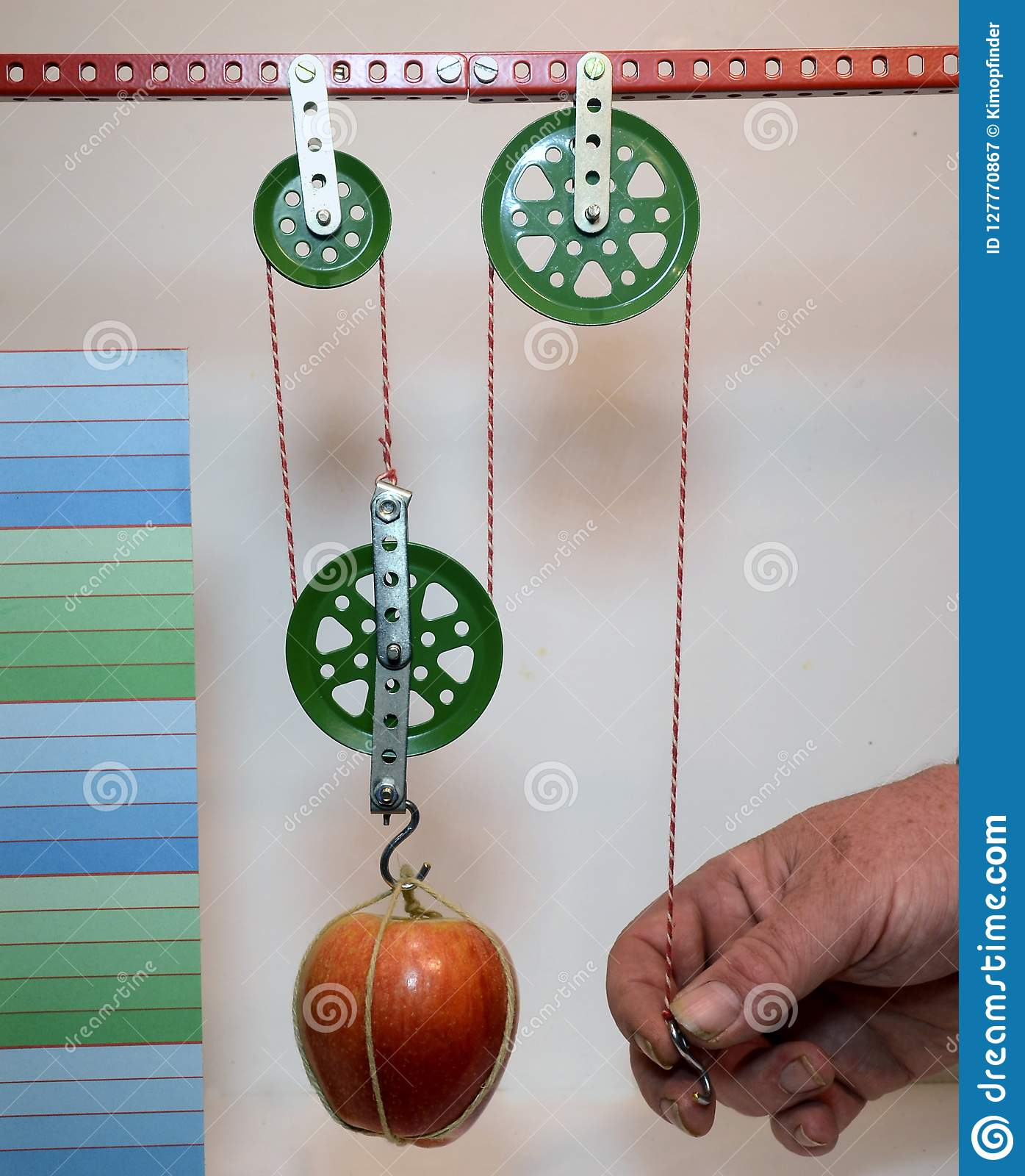 Enhanced Single Pulley Block Demo Stock Image - Image of pulley