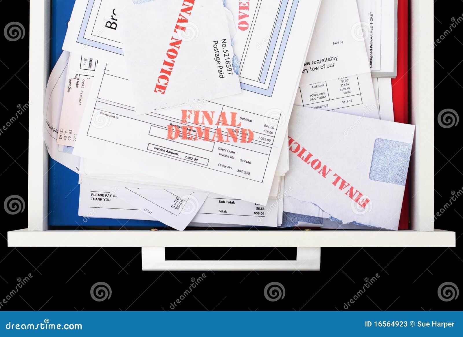 Enheten invoices förfallet obetalt