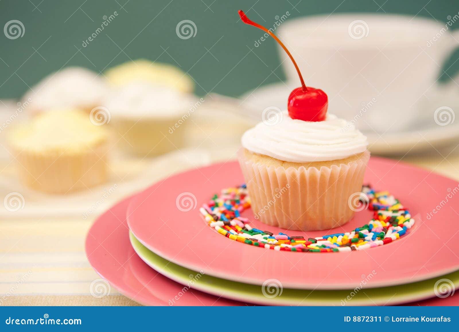 Enige Cupcake met een Kers op Bovenkant