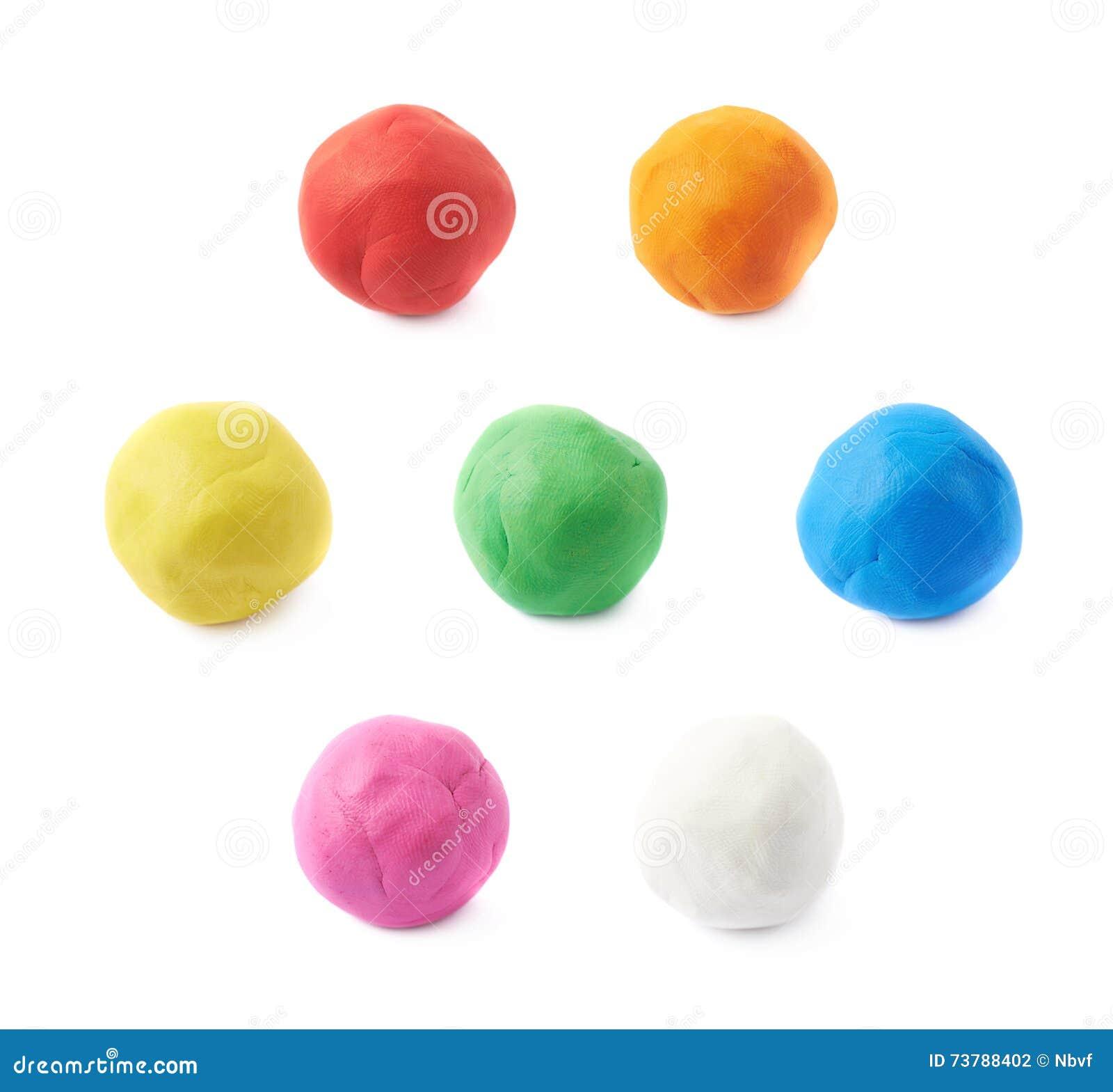 Enige geïsoleerde plasticinebal